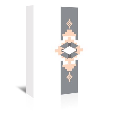 Americanflat 'Southwestern Vertical' by Jetty Printables Graphic Art Wrapped on Canvas in Orange