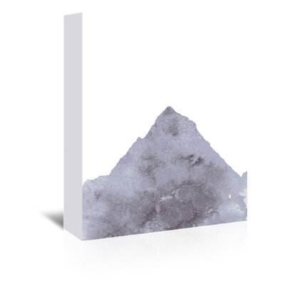 Americanflat 'Watercolour Grey Mountain 1' by Jetty Printables Graphic Art Wrapped on Canvas