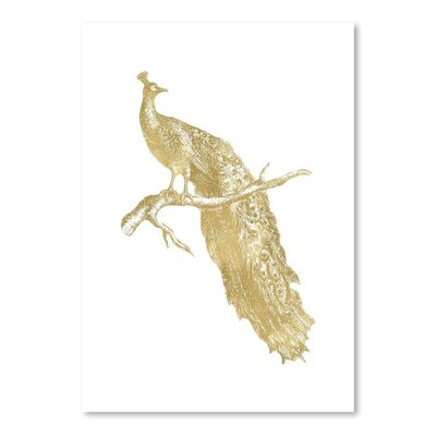 Americanflat 'Peacock Single' by Amy Brinkman Graphic Art in White