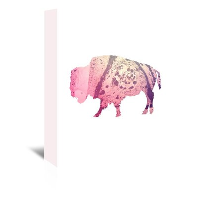 Americanflat 'Psychedelic Buffalo' by Jetty Printables Graphic Art Wrapped on Canvas