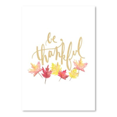 Americanflat 'Be Thankful' by Jetty Printables Typography