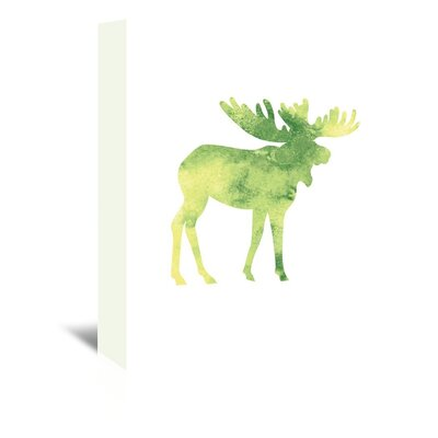 Americanflat 'Watercolour Faded Moose' by Jetty Printables Graphic Art Wrapped on Canvas