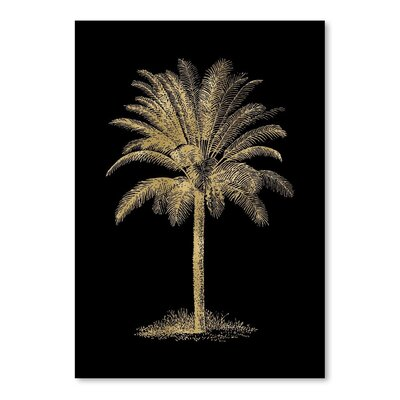 Americanflat 'Palm Tree Gold on Black' by Amy Brinkman Graphic Art