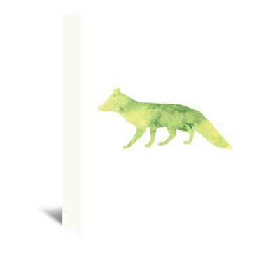 Americanflat 'Yellow Watercolour Fox' by Jetty Printables Graphic Art Wrapped on Canvas