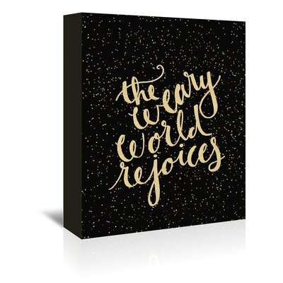 Americanflat 'Weary Worl' by Jetty Printables Typography Wrapped on Canvas