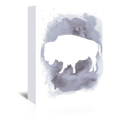 Americanflat 'Watercolour Buffalo' by Jetty Printables Graphic Art Wrapped on Canvas