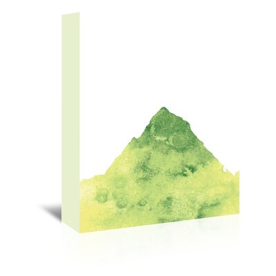 Americanflat 'Yellow Watercolour Mountain' by Jetty Printables Graphic Art Wrapped on Canvas