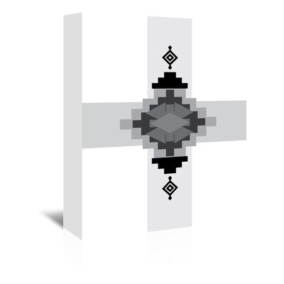 Americanflat 'Black White Southwestern Cross' by Jetty Printables Graphic Art Wrapped on Canvas
