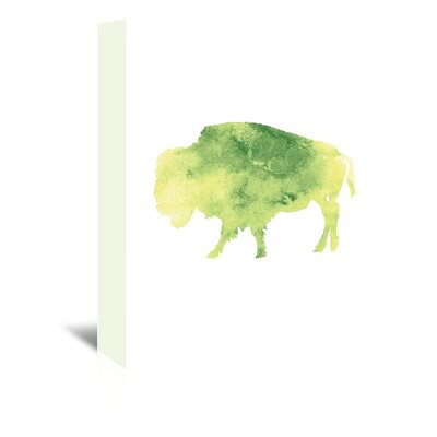 Americanflat 'Watercolour 2 Buffalo' by Jetty Printables Graphic Art Wrapped on Canvas