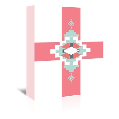 Americanflat 'Coral Mint Southwestern Cross' by Jetty Printables Graphic Art Wrapped on Canvas