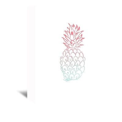 Americanflat 'Pineapple' by Jetty Printables Graphic Art Wrapped on Canvas in Red