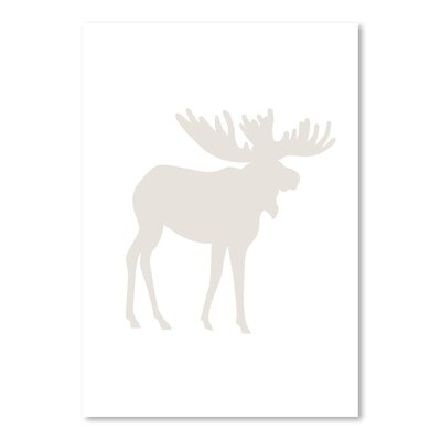 Americanflat 'Moose' by Jetty Printables Graphic Art in Beige