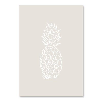 Americanflat 'Pineapple' by Jetty Printables Graphic Art in Beige