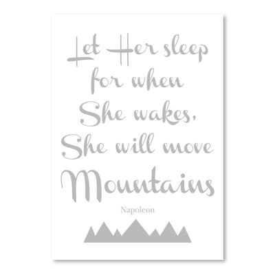 Americanflat 'Let Her Sleep Mountains' by Amy Brinkman Typography in Grey