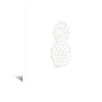 Americanflat 'Beige Pineapple' by Jetty Printables Graphic Art Wrapped on Canvas