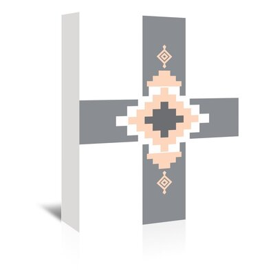 Americanflat 'Peach Southwestern Cross' by Jetty Printables Graphic Art Wrapped on Canvas