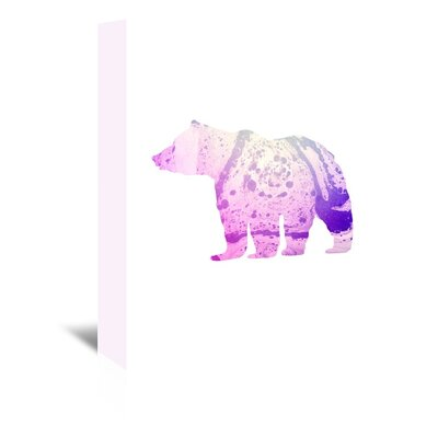 Americanflat 'Psychedelic Pink Bear' by Jetty Printables Graphic Art Wrapped on Canvas