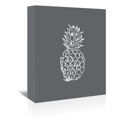 Americanflat 'Pineapple' by Jetty Printables Graphic Art Wrapped on Canvas in Grey