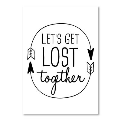 Americanflat 'Let's Get Lost' by Jetty Printables Typography