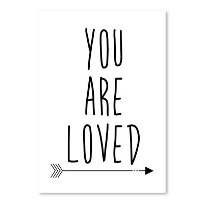 Americanflat 'You Are Loved' by Jetty Printables Typography