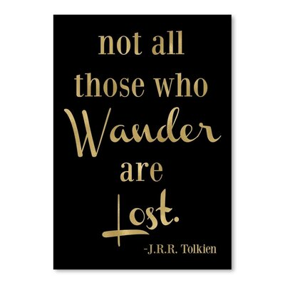 Americanflat 'Wander Lost' by Amy Brinkman Typography