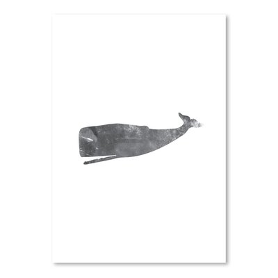 Americanflat 'Black White Grunge Whale' by Jetty Printables Graphic Art