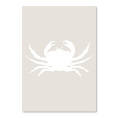 Americanflat 'Crab' by Jetty Printables Graphic Art in Beige