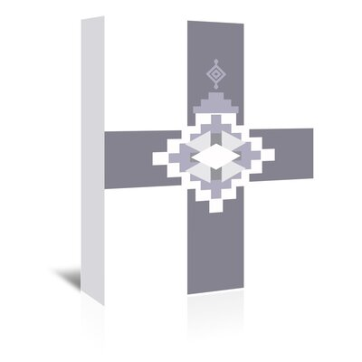 Americanflat 'Southwestern Cross' by Jetty Printables Graphic Art Wrapped on Canvas in Grey