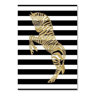 Americanflat 'Zebra Black White Stripe' by Amy Brinkman Graphic Art