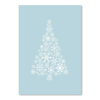 Americanflat 'Blue White Snowflake Tree' by Jetty Printables Graphic Art