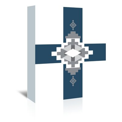 Americanflat 'Southwestern Cross' by Jetty Printables Graphic Art Wrapped on Canvas in Blue