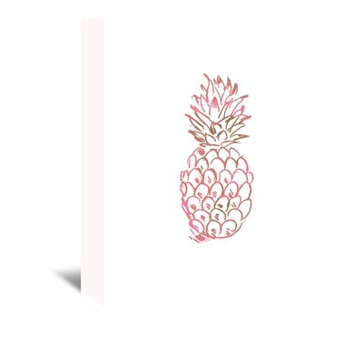 Americanflat 'Watercolour Pink Pineapple' by Jetty Printables Graphic Art Wrapped on Canvas