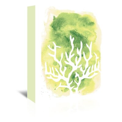 Americanflat 'Watercolour Yellow Coral' by Jetty Printables Graphic Art Wrapped on Canvas