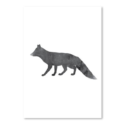 Americanflat 'Black White Fox' by Jetty Printables Graphic Art