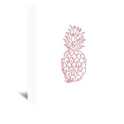 Americanflat 'Coral Pineapple' by Jetty Printables Graphic Art Wrapped on Canvas