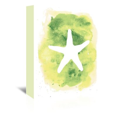 Americanflat 'Background Starfish' by Jetty Printables Graphic Art Wrapped on Canvas