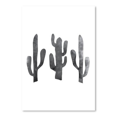 Americanflat 'Black White Cactus' by Jetty Printables Graphic Art