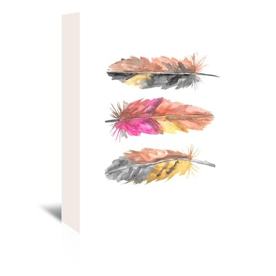 Americanflat 'Tri Feather 2' by Jetty Printables Art Print Wrapped on Canvas