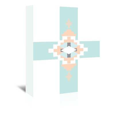 Americanflat 'Peach Mint Southwestern Cross' by Jetty Printables Graphic Art Wrapped on Canvas
