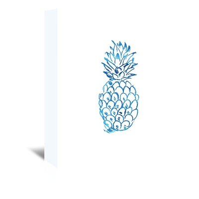 Americanflat 'Watercolourlue Pineapple' by Jetty Printables Graphic Art Wrapped on Canvas