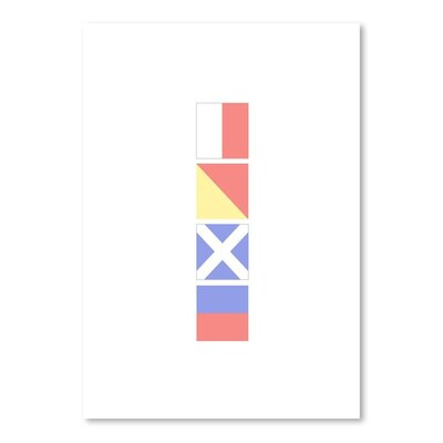 Americanflat 'Home Nautical Flags' by Jetty Printables Graphic Art