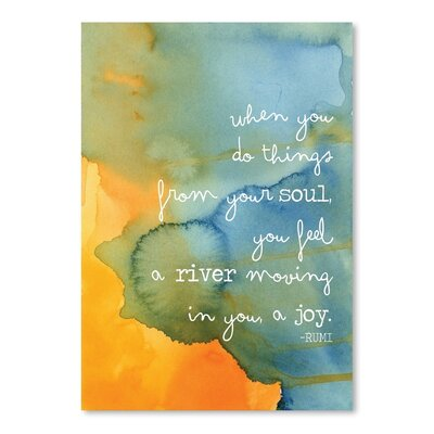 Americanflat 'Watercolour Soul River' by Amy Brinkman Graphic Art