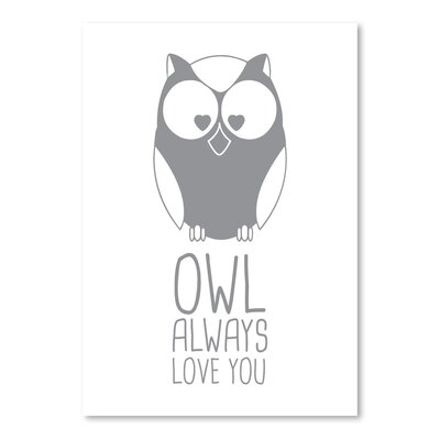 Americanflat 'Grey Owl' by Jetty Printables Graphic Art