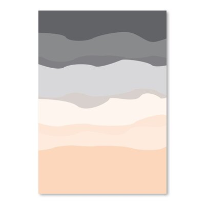 Americanflat 'Abstract' by Jetty Printables Graphic Art in Orange