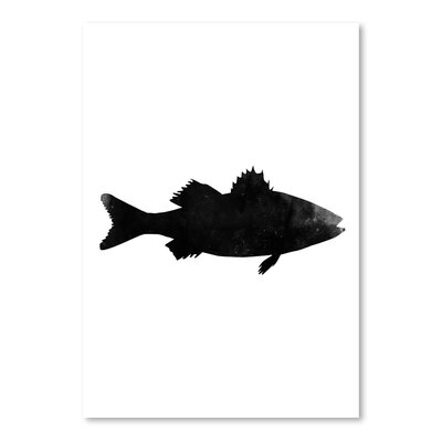 Americanflat 'Black White Faded Sea Bas' by Jetty Printables Graphic Art