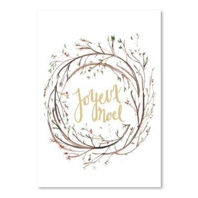 Americanflat 'Joyeux Noe' by Jetty Printables Typography