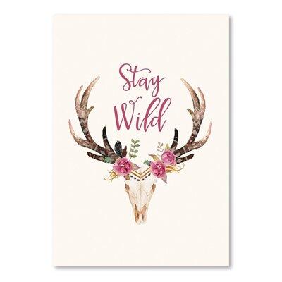 Americanflat 'Stay Wild Skull Cream' by Amy Brinkman Graphic Art
