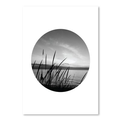 Americanflat 'Dune Grass Black White Circle' by Jetty Printables Photographic Print