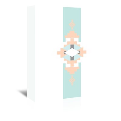 Americanflat 'Peach Mint Southwestern Vertical' by Jetty Printables Graphic Art Wrapped on Canvas