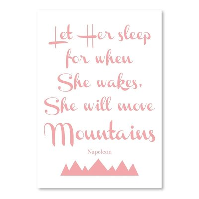 Americanflat 'Let Her Sleep Mountains Pink' by Amy Brinkman Typography